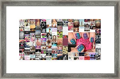 Funky Nails Framed Print