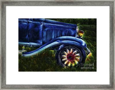 Funky Old Car Framed Print by Susan Candelario