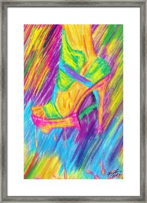 Funky Stilettos Impression Framed Print by Kenal Louis
