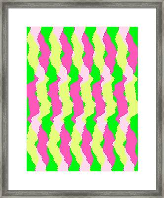 Funky Stripes Framed Print by Louisa Knight