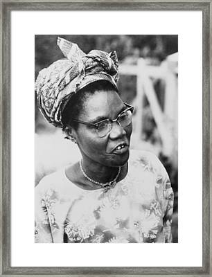Funmilayo Ransome-kuti 1900-1978 Framed Print by Everett