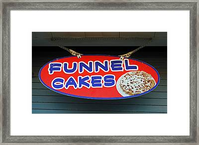 Funnel Cakes Framed Print by Skip Willits
