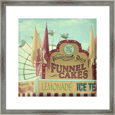 Funnel Cakes Framed Print by Sylvia Cook