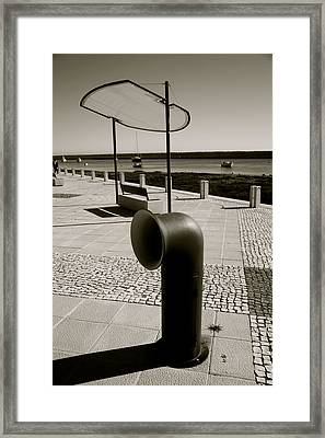 Funnel Trash Framed Print by Jez C Self