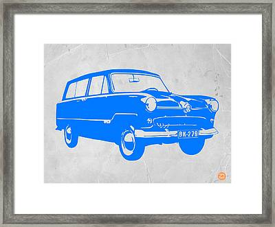 Funny Car Framed Print by Naxart Studio
