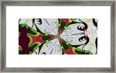 Funny Face Abstract Framed Print by Paula  Adams