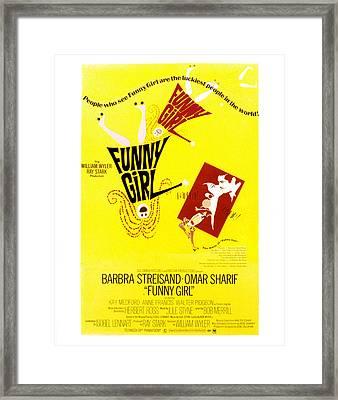 Funny Girl, Barbra Streisand, Omar Framed Print by Everett