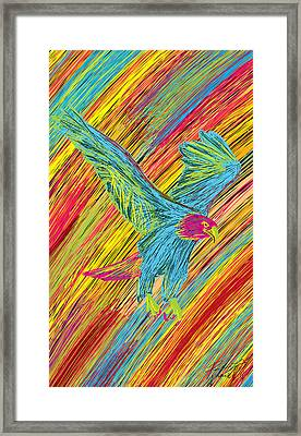 Furious Bold Bald Eagle Framed Print by Kenal Louis