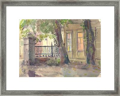 Furmanny Pereulok Framed Print by Leonid Petrushin