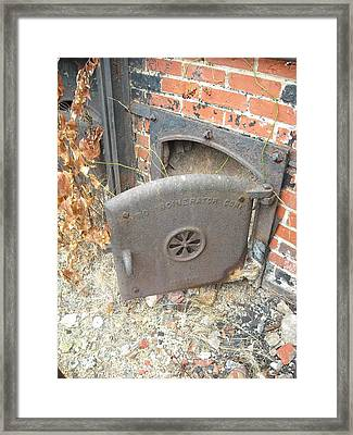 Framed Print featuring the photograph Furnace Door by Christophe Ennis