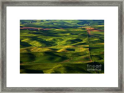 Furrows And Folds Framed Print by Mike  Dawson