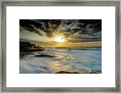 Fury At Maroubra Framed Print by Mark Lucey