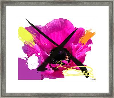 Fuschia Chingasso X Framed Print