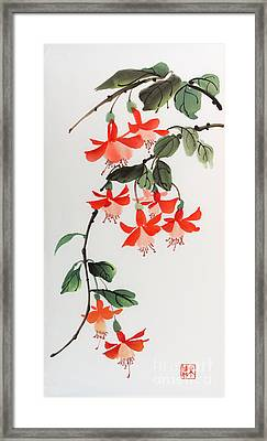 Fuschia Framed Print by Yolanda Koh