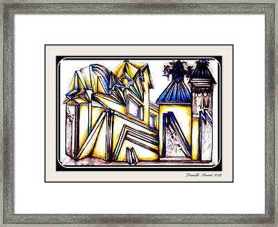 Framed Print featuring the drawing Futuramik  by Danielle  Parent