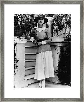 Future Duchess Of Windsor Wallis Framed Print by Everett