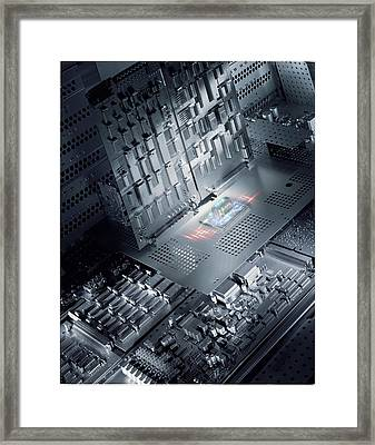 Future Electronics Framed Print by Richard Kail