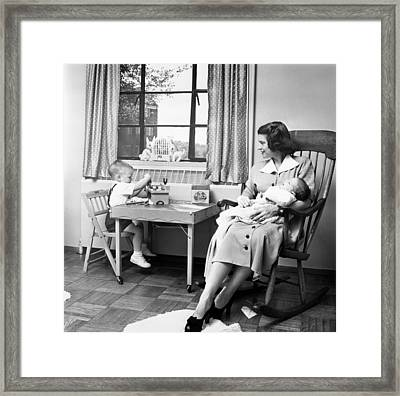 Future First Lady In 1952.  Betty Ford Framed Print by Everett
