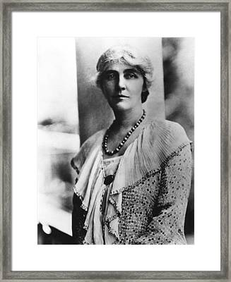 Future First Lady Lou Henry Hoover Framed Print by Everett