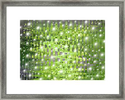 Future Forest Abstract Framed Print by Carol Groenen