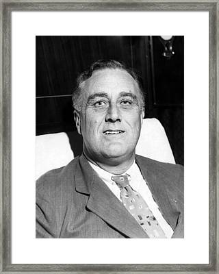Future President Governor Franklin D Framed Print