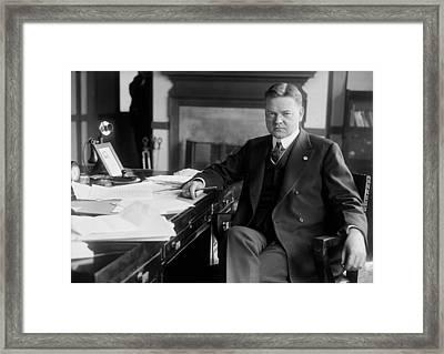 Future President Herbert Hoover As Head Framed Print by Everett