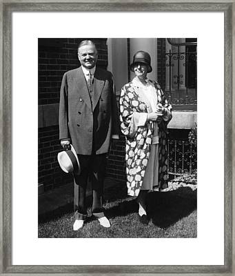 Future President Herbert Hoover Framed Print by Everett