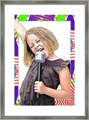 Future Star Sing It Girl Framed Print by Susan Leggett