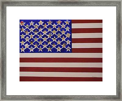 Future Stars Of The United States Of America Framed Print by DJ Bates