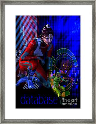 Framed Print featuring the digital art Future Tribal by Shadowlea Is