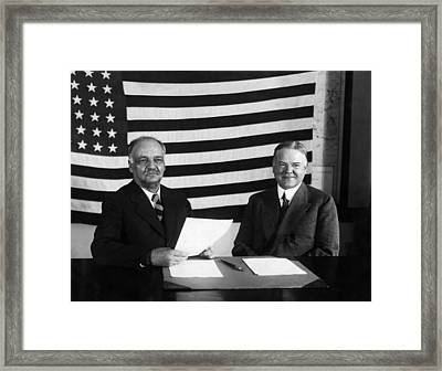 Future Vice President Charles Curtis Framed Print
