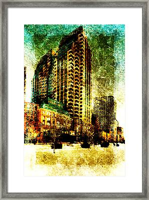 Framed Print featuring the digital art Futurecraper by Andrea Barbieri
