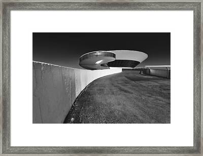Futuristic Shapes Framed Print by George Oze