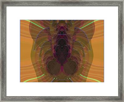 Futuristic Tribalism Test Framed Print by Feile Case
