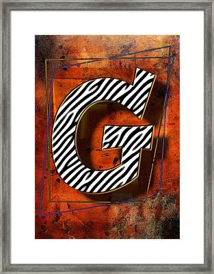 G Framed Print by Mauro Celotti