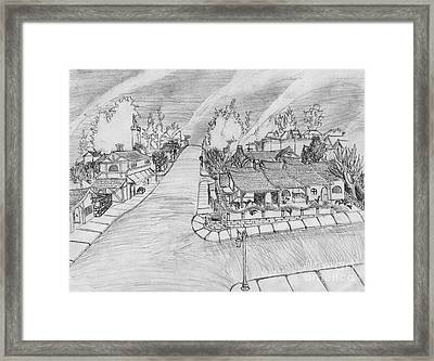 G Street From On High Framed Print by Jonathan Armes