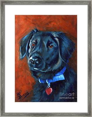 Framed Print featuring the painting Gabby by Pat Burns
