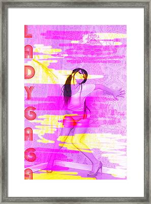 Gaga Distorted Framed Print by Mike Bahn