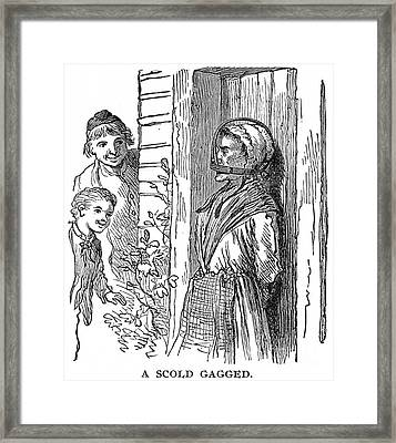 Gagged Scold, 17th Century Framed Print by Granger