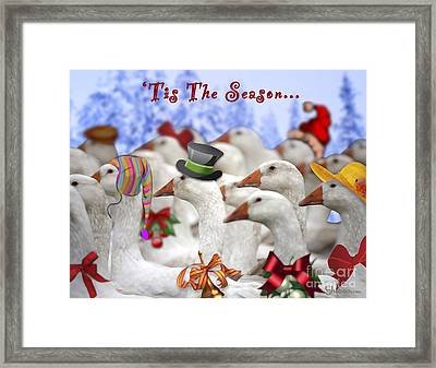 Gaggle O' Greetings Framed Print