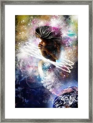 Gaia Genie Framed Print by Julie L Hoddinott