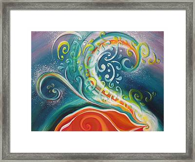 Gaia Speaks Framed Print by Reina Cottier
