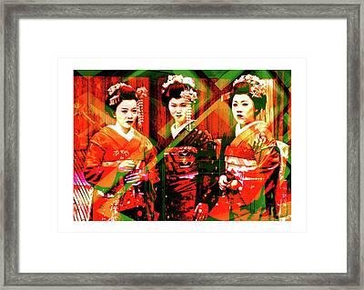 Gaisha Framed Print by Francesco Valentino
