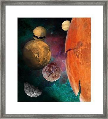 Galactic Junkyard Framed Print by Sarah McKoy