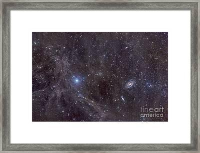 Galaxies M81 And M82 As Seen Framed Print by John Davis