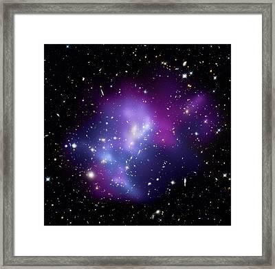 Galaxy Cluster Macs J0717 Framed Print by Nasacxcstscima Et Al