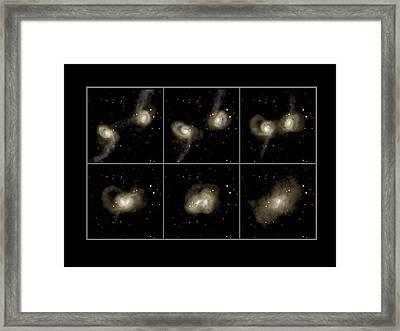 Galaxy Collision Model Framed Print