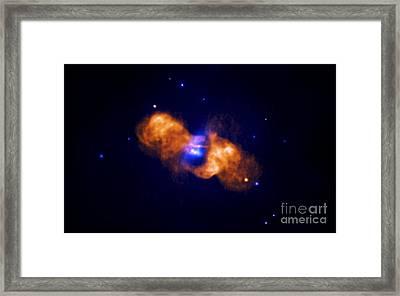 Galaxy Collision Framed Print by Nasa