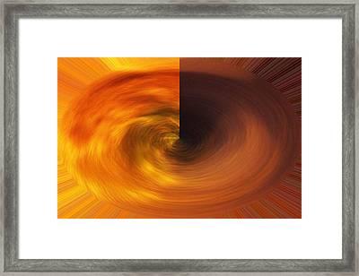 Framed Print featuring the photograph Galaxy Divided by Carolina Liechtenstein