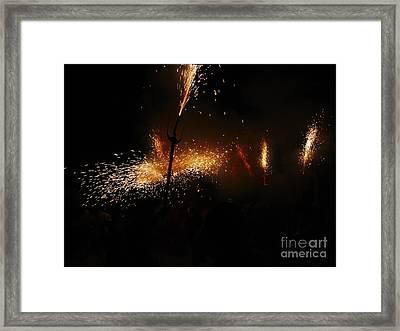 Galaxy Of Sparks Framed Print by Agusti Pardo Rossello
